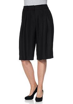 Nohavicová sukňa v páse so záhybmi