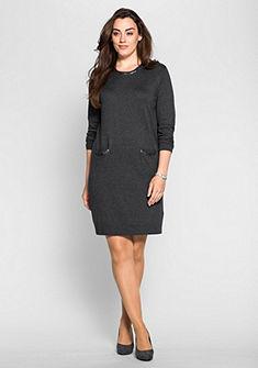 sheego Style Pletené šaty s flitry