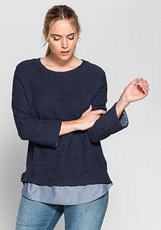sheego Casual hosszú ujjú póló 2 az 1-ben hatású