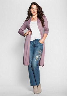 sheego Style Dlhý pletený sveter