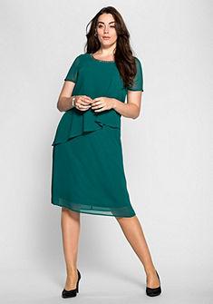 sheego Style Šifónové šaty vo vrstvenom vzhľade