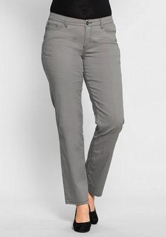 sheego Style Gerade Elastické nohavice s krajkou