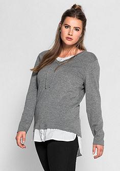 sheego Trend hosszú pulóver