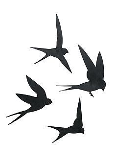 heine home Nástěnná dekorace-ptáci, 4-díl.