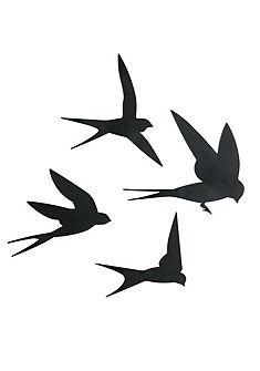 heine home fali dekorációs madár,4db-os szett
