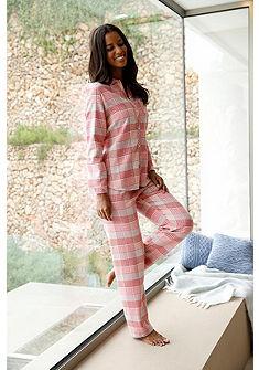 CALIDA kockás flanel pizsama inggallérral& gombolással