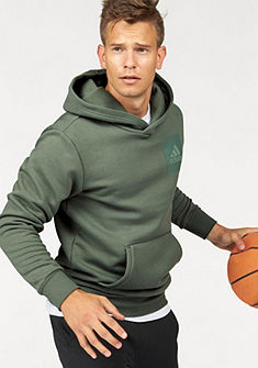 adidas Performance kapucnis hosszú ujjú felső »ESSENTIALS CHEST LOGO PULLOVER HOOD FLEECE«