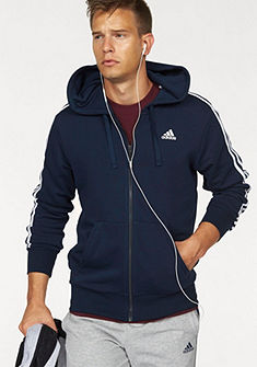 adidas Performance kapucnis hosszú ujjú felső »ESSENTIALS 3 STRIPES FULLZIP HOODY FRENCH TERRY«