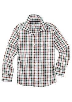 Almsach Dětská krojová košile v károvaném designu
