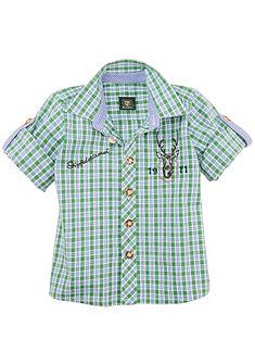 OS-Trachten Dětská krojová košile s malou výšivkou
