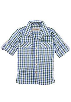 Dětská károvaná krojová košile s nápisem, OS Trachten