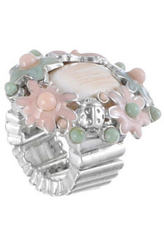 Krojový prsten s trendovou květinovou aplikací