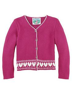 Turi Landhaus Krojový dětský svetr se srdíčkovým vzorem