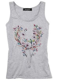 Mondkini krojová tričko s květinovým potiskem