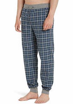 Marc O'Polo Dlhé pánske kockované nohavice so záhybmi - na voľný čas