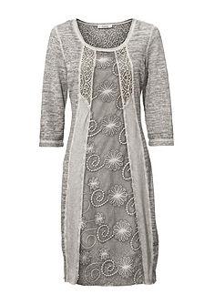 LINEA TESINI by heine Čipkované šaty, moderné farbenie oil-dyed