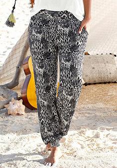 Buffalo London Plážové nohavice s zvieracou potlačou