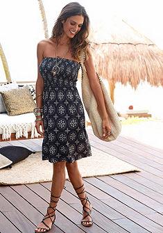 LASCANA Letné šaty s nariaseným horným dielom