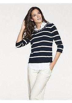 PATRIZIA DINI by heine Pruhovaný pulovr vzhled 2 v 1