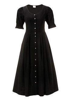 Krojové šaty s nabíranými rukávy