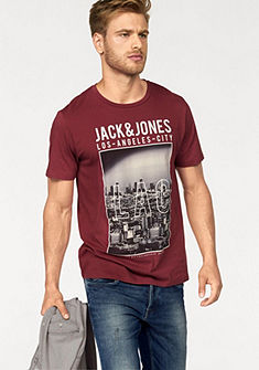 Jack & Jones kereknyakú póló logós felirattal