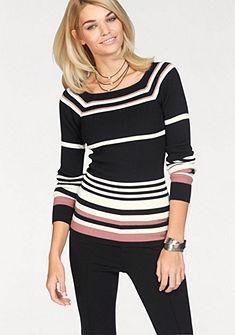 Laura Scott Pruhovaný pulovr »s žebrovanou strukturou«