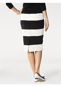 PATRIZIA DINI by heine Pruhovaná úzká sukně
