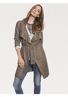 Kabát v koženém vzhledu
