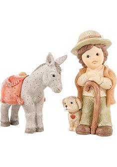 Gobelova figurková souprava, »Pastýř se psem a oslem«, 2-dílná, »Nina & Marco«