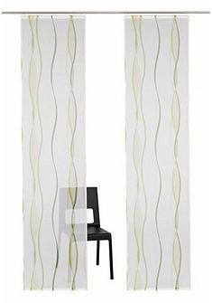 Panelový záves s potlačou vĺn, My Home, »Dimona«, (2 ks, s príslušenstvom) so suchým zipsom