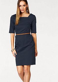 Vero Moda egyenes szabású ruha »ROOS« (bőr hatású övvel)