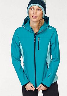 CMP Softshell bunda, vrecká s kontrastnými zipsami,