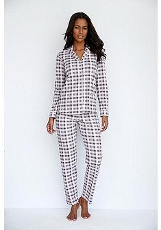 SCHIESSER Kostkované pyžamo v klasickém střihu