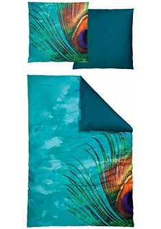 Auro Hometextile kétoldalas ágynemű »Pfau«, pávatollas díszítéssel