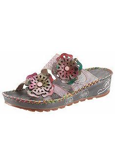 LAURA VITA Pantofle s ozdobnými květy