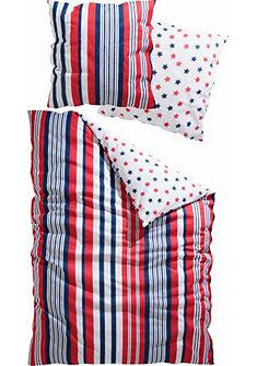 Obojstranná posteľná bielizeň, my home »Trilo« s pruhmi a bodkami
