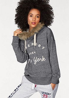 Superdry Mikina s kapucí »SUPERDRY APPLIQUE FUR HOOD«