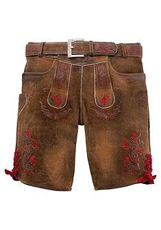 Marjo Krojové kožené pánske nohavice krátky, krátke svýšivkou