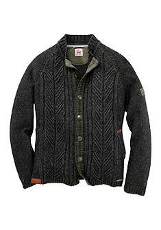 Spieth & Wensky Krojový pánský svetr s tradičním pleteným vzorem