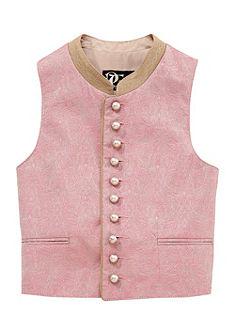 Turi Landhaus Dětská krojová vesta v jemném pastelovém odstínu