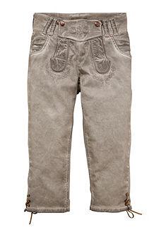 Dámské 3/4 krojové kalhoty s vyšívaným laclem