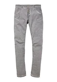 country styl Krojové kalhoty s knoflíky ve vzhledu jelení rohoviny