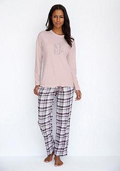 SCHIESSER Flanelové pyžamové nohavice v kockovanom dizajne