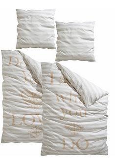Posteľná bielizeň, my home Selection, s nápisom »You&Me«