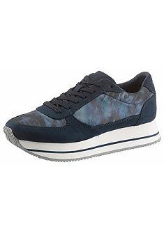 Tamaris magasított talpú sneaker cipő textilből