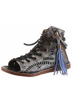 A.S.98 Sandále, šnurovanie, zips.