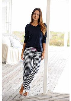 Arizona pyžamo s dlhými rukávmi a kockovanými nohavicami