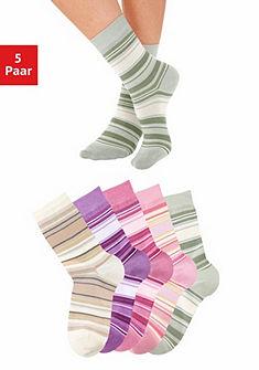 Bench Ponožky pruhované (5 párov), pastelové odtiene
