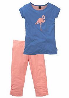 Schiesser Krátké pyžamo pro dívky s potiskem
