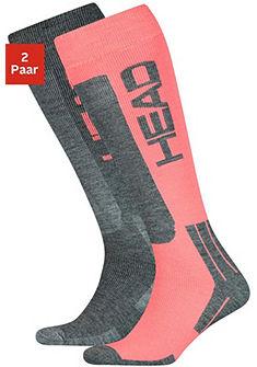 Head Lyžařské ponožky (2 páry) s vlnou a polstrovaným chodidlem